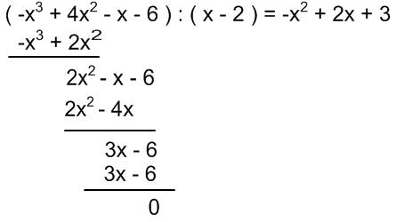 Divisjon av polynomer, trinn 5