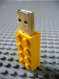 USB-flash i Lego-modell