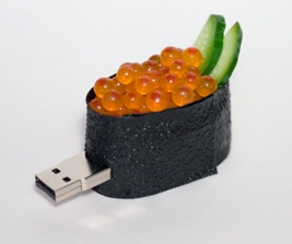 USB-flash i sushi-modell